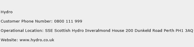Hydro Phone Number Customer Service