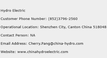 Hydro Electric Phone Number Customer Service