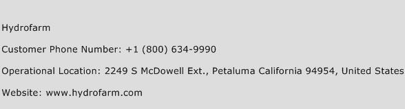 Hydrofarm Phone Number Customer Service