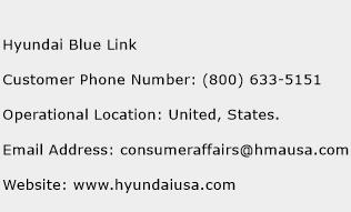 Hyundai Blue Link Phone Number Customer Service