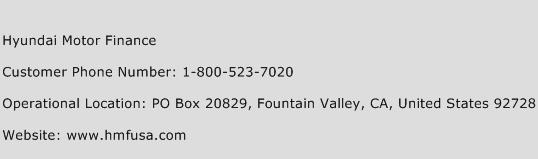 Hyundai motor finance customer service phone number for Hyundai motor finance fax number
