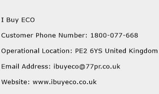 I Buy ECO Phone Number Customer Service