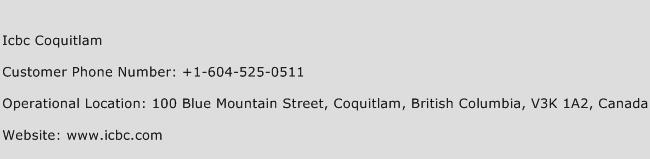 ICBC Coquitlam Phone Number Customer Service