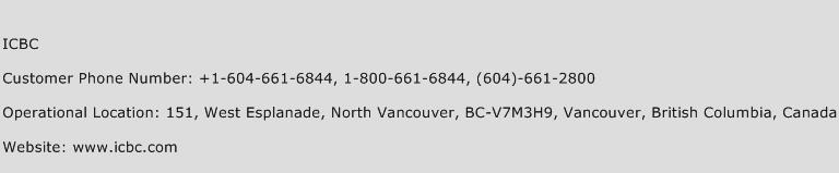 ICBC Phone Number Customer Service