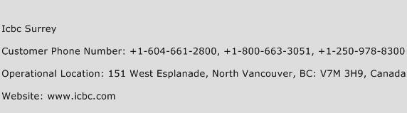 ICBC Surrey Phone Number Customer Service
