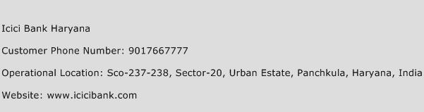 ICICI Bank Haryana Phone Number Customer Service