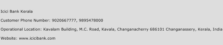 ICICI Bank Kerala Phone Number Customer Service