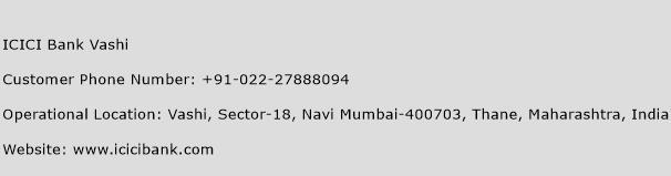 ICICI Bank Vashi Phone Number Customer Service