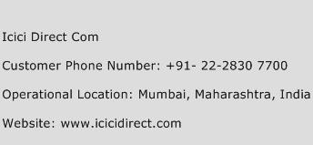 ICICI Direct Com Phone Number Customer Service