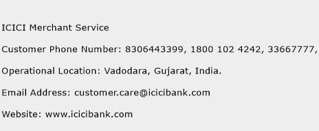 ICICI Merchant Service Phone Number Customer Service