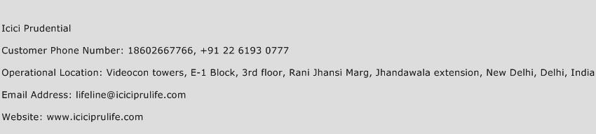 ICICI Prudential Phone Number Customer Service