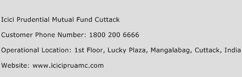ICICI Prudential Mutual Fund Cuttack Phone Number Customer Service