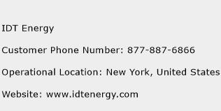 IDT Energy Phone Number Customer Service