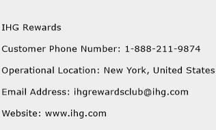 IHG Rewards Phone Number Customer Service