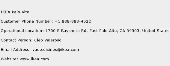 IKEA Palo Alto Phone Number Customer Service