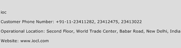 IOC Phone Number Customer Service