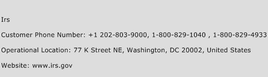 IRS Phone Number Customer Service