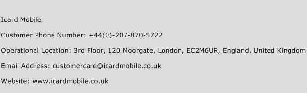 Icard Mobile Phone Number Customer Service