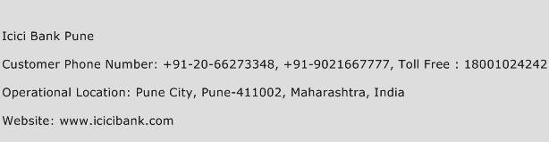 Icici Bank Pune Phone Number Customer Service