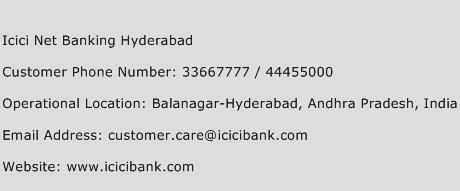 Icici Net Banking Hyderabad Phone Number Customer Service