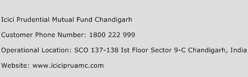 Icici Prudential Mutual Fund Chandigarh Phone Number Customer Service