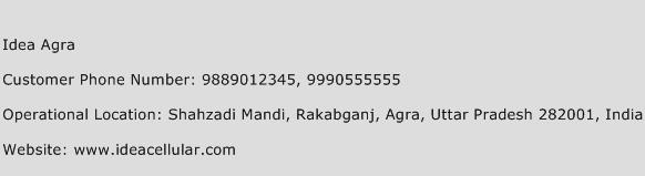 Idea Agra Phone Number Customer Service