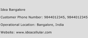 Idea Bangalore Phone Number Customer Service
