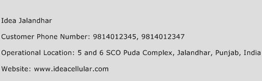 Idea Jalandhar Phone Number Customer Service