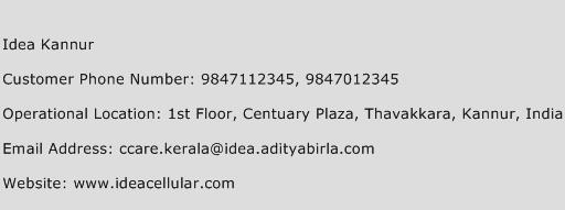 Idea Kannur Phone Number Customer Service