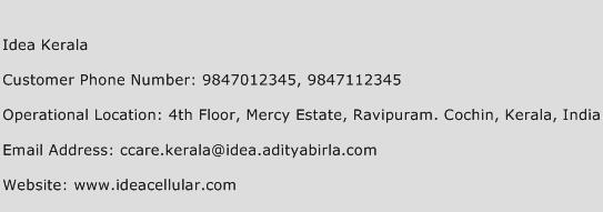 Idea Kerala Phone Number Customer Service