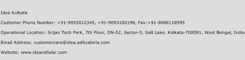 Idea Kolkata Phone Number Customer Service
