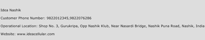 Idea Nashik Phone Number Customer Service