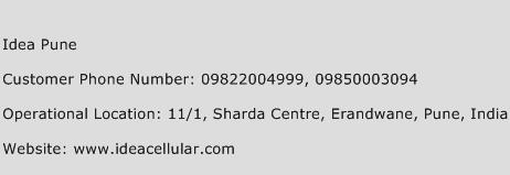 Idea Pune Phone Number Customer Service