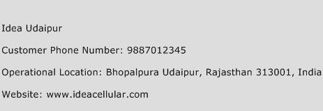 Idea Udaipur Phone Number Customer Service