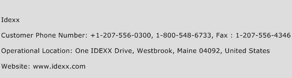 Idexx Phone Number Customer Service