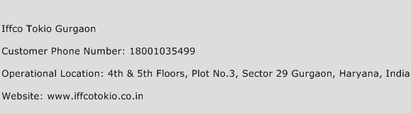 Iffco Tokio Gurgaon Phone Number Customer Service