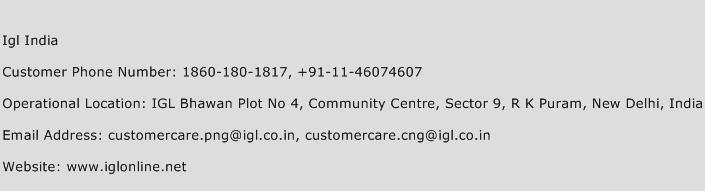 Igl India Phone Number Customer Service