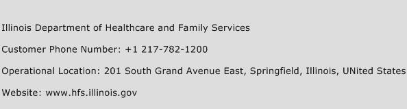 Illinois Department of Healthcare and Family Services Phone Number Customer Service