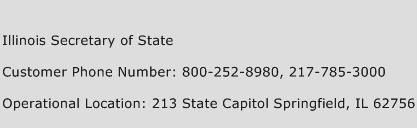 Illinois Secretary of State Phone Number Customer Service
