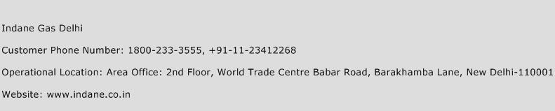Indane Gas Delhi Phone Number Customer Service