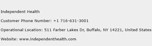 Independent Health Phone Number Customer Service