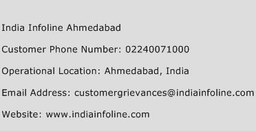 India Infoline Ahmedabad Phone Number Customer Service