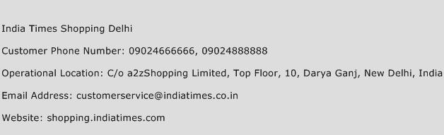 India Times Shopping Delhi Phone Number Customer Service