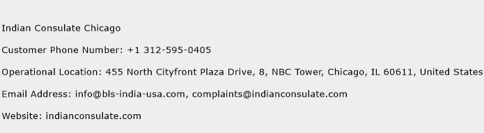 Indian Consulate Chicago Phone Number Customer Service