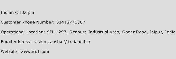 Indian Oil Jaipur Phone Number Customer Service