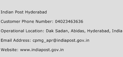 Indian Post Hyderabad Phone Number Customer Service