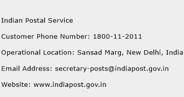 Indian Postal Service Phone Number Customer Service