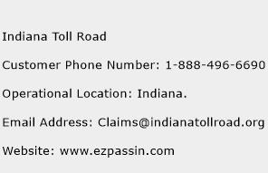 Indiana Toll Road Phone Number Customer Service