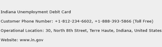 Indiana Unemployment Debit Card Phone Number Customer Service