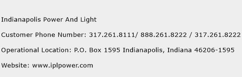 Indianapolis Power And Light Phone Number Customer Service